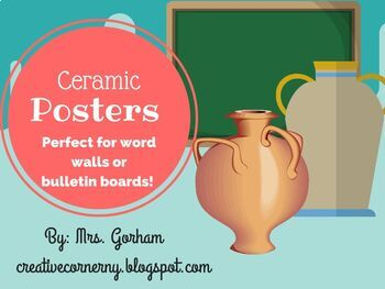 Clay Vocab for Bulletin Boards or word walls