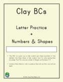 Clay With Me! Clay BCs: Alphabet, Numbers and Shapes