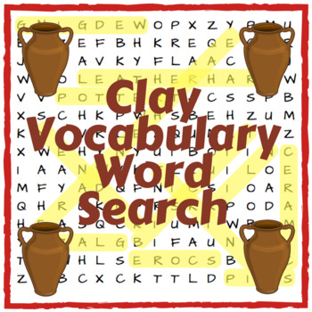 Clay Word Search - lesson starter, plenary, literacy task, homework wordsearch