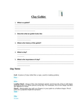 Clay and Cly Goblet Handout