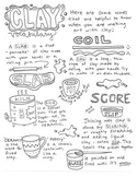 Clay Art Vocabulary handout/poster