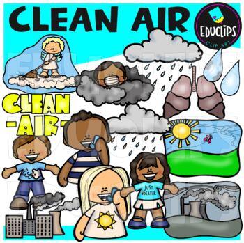 Clean Air Clip Art Bundle {Educlips Clipart}