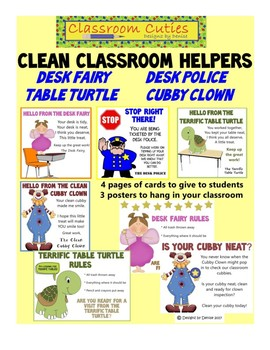 Clean Classroom Helpers Set