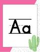 Clean, Colorful, Cactus Alphabet Posters