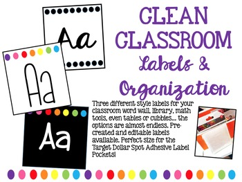 Clean & Colorful Classroom Labels