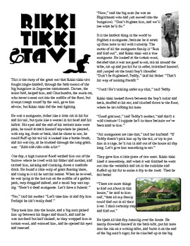 Clean Copy - Rikki Tikki Tavi, Illustrated