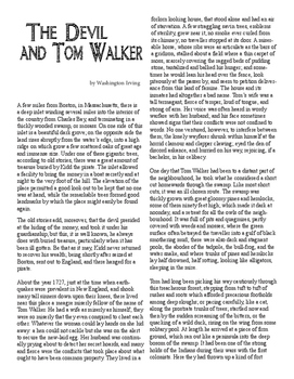 Clean Copy - The Devil and Tom Walker