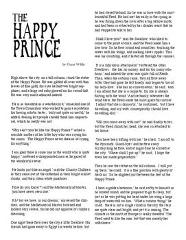Clean Copy - The Happy Prince