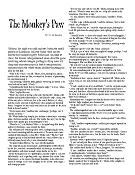 Clean Copy - The Monkey's Paw