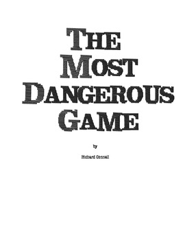 Clean Copy - The Most Dangerous Game, Illustrated