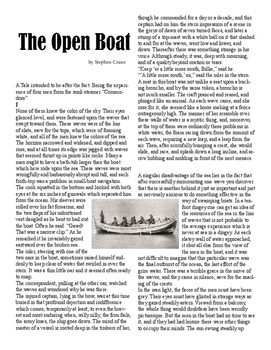 Clean Copy - The Open Boat