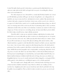 Class #1 Clean Copy / Conclusion to David Foster Wallace Essay for Assignment #1