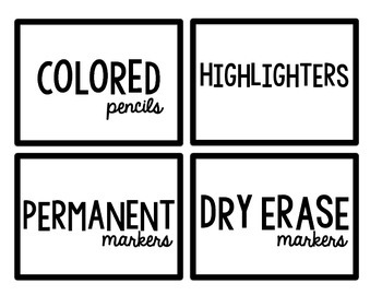 Clean Crisp Labels to Organize Your Classroom