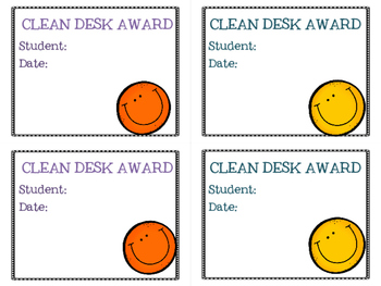 Clean Desk Award