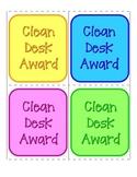 Clean Desk Award Cards