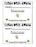 Clean Desk Award Certificate