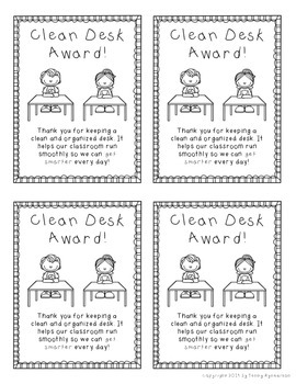 Clean Desk Award FREEBIE!