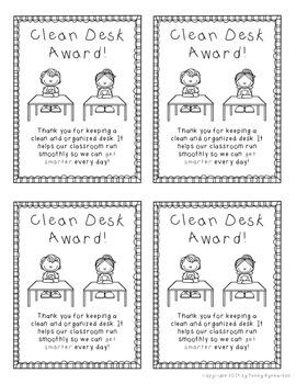 Clean Desk Award FREEBIE!