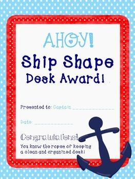 Clean Desk Award Nautical Theme