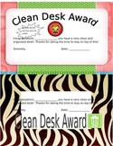 Editable - Clean Desk Awards