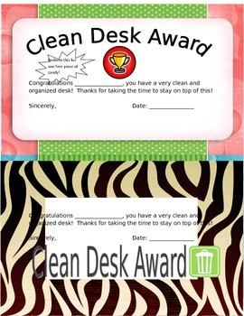 Editable - Clean Desk Awards