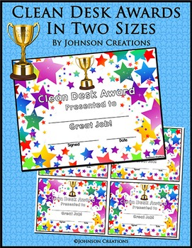 Clean Desk Awards In Two Sizes