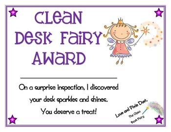 Clean Desk Fairy Award