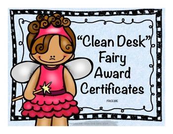 Clean Desk Fairy Award Certificates