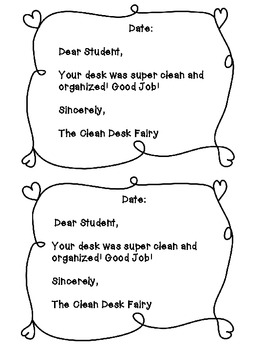 Clean Desk Fairy-Motivation for Organization- FREEBIE