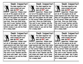 Clean Desk Inspector