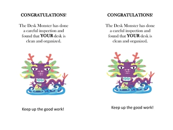 Clean Desk Monster Reward