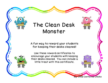 The Clean Desk Monster with Colorful Frames