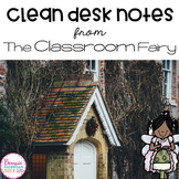 Clean Desk Notes from the Classroom Fairy