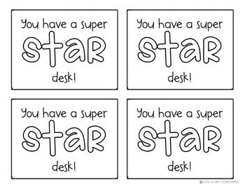 Clean Desk Tag: You have a super STAR desk!