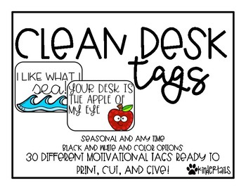 Clean Desk Tags