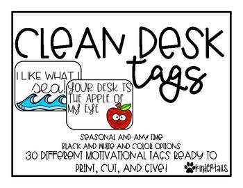 Clean Desk Tags