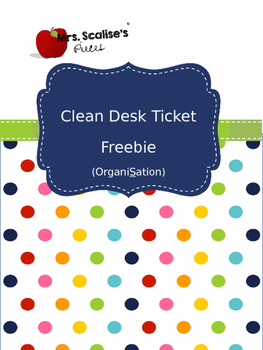 Clean Desk Ticket Freebie - Spelled with an S: OrganiSation