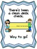 Clean Desk Tickets-A monthly incentive to promote student