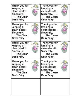 Clean Desk note
