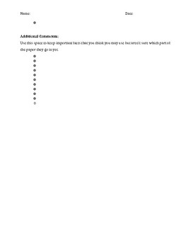 Clean Energy Essay Outline Template