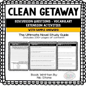 Comprehension Questions Aligned with Clean Geta - Vocabulary - Extended Learning