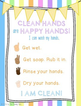 Clean Hands, Happy Hands: Handwashing Posters