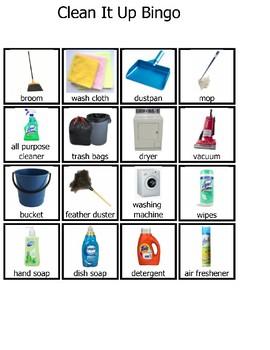 Clean It Up Bingo