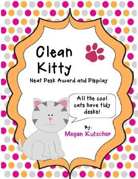 Clean Kitty Tidy Desk Award Pack