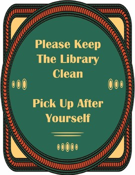 Clean Library Sign