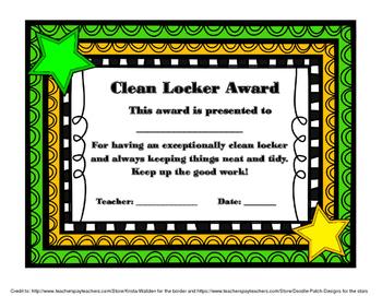 Clean Locker Award Poster