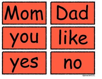 Clean-Simple & Printable Kindergarten Literacy Sight Words