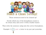 Clean Sweep Homophone Center