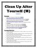 Clean Up After Yourself (PBIS Skills Group Lesson) - TWO LESSONS!