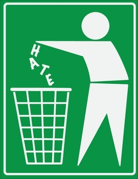 Clean Up Hate: Inspirational Classroom Poster